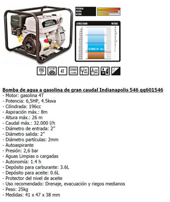 Motobomba Gasolina Green Expert 31200 L/H 163 Cc