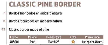 Bordura Madera Pino