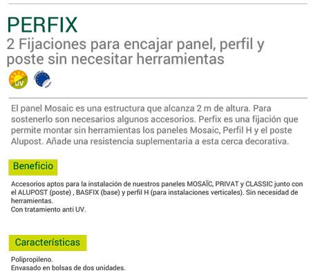 Fijaciones Panel Classic Perfix (2 Unidades)