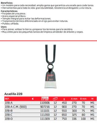 Azada N 228