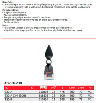 Azada N 230