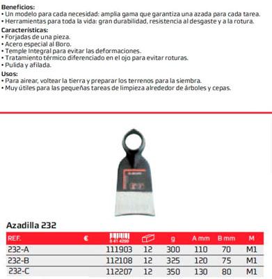 Azada N 232