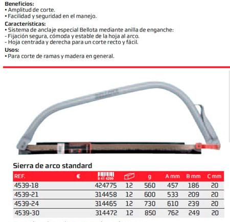 Arco Tronzar Bellota Standar 4539