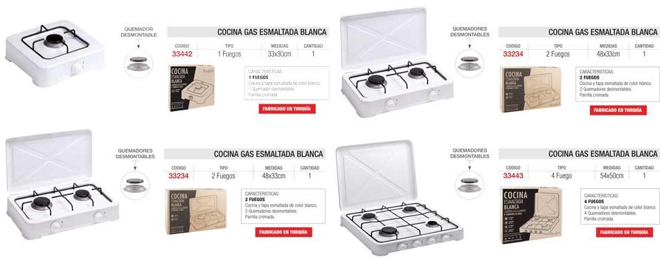 Cocina Gas Esmaltada