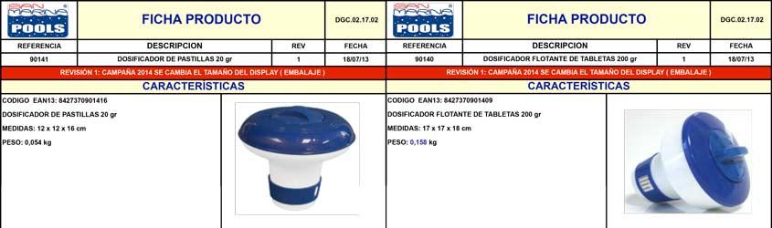Dosificador Cloro Flotante (Pastilla)