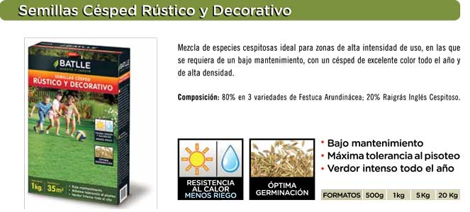Semillas Cesped Rustico Decorativo