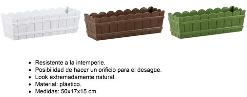 Jardinera Plastico