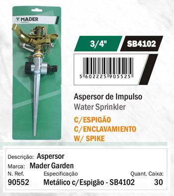 Aspersor Sectorial Metalico con Pincho