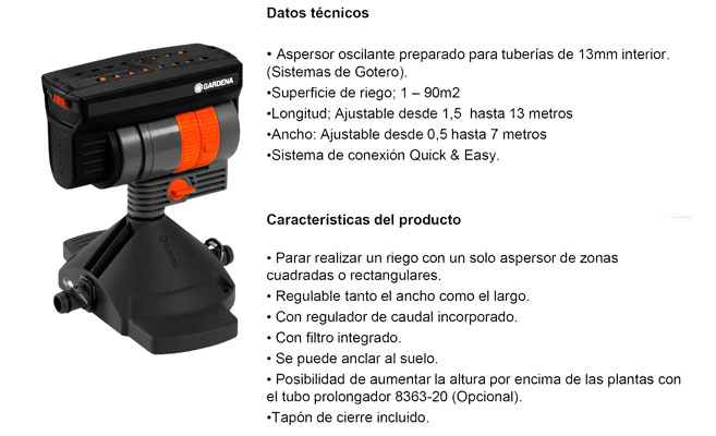 Aspersor Oscilante Micro-Drip System