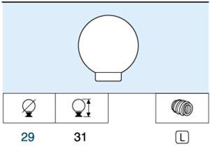 Pomo Forma Circular Abs Blanco