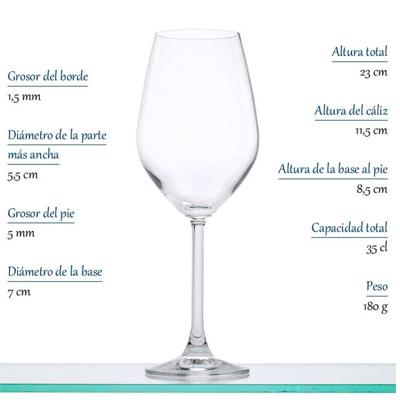 Copa Vino Blanco Margarita Dkristal